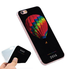Coloful hot air balloon cold play Clear Soft TPU Slim Silicone Phone Case Cover for iPhone 4 4S 5C 5 SE 5S 7 6 6S Plus