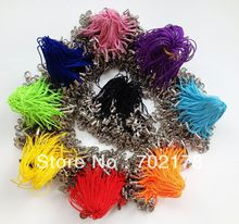 Lot of 100pcs Mixed color cell phone strap with lobster clasp Mobile Phone Accessories charm Straps