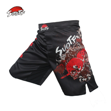 MMA boxing Sanda breathable cotton material loose Shorts Size Muay Thai Shorts boxing clothing kickboxing shorts mma short