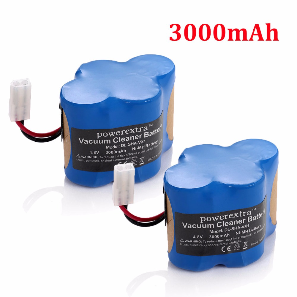 2pcs Powerextra 3000mAh Replacement Battery For Shark Cordless Sweeper Tools VX1 V1930 Euro Pro X1725QN V1700Z(China (Mainland))