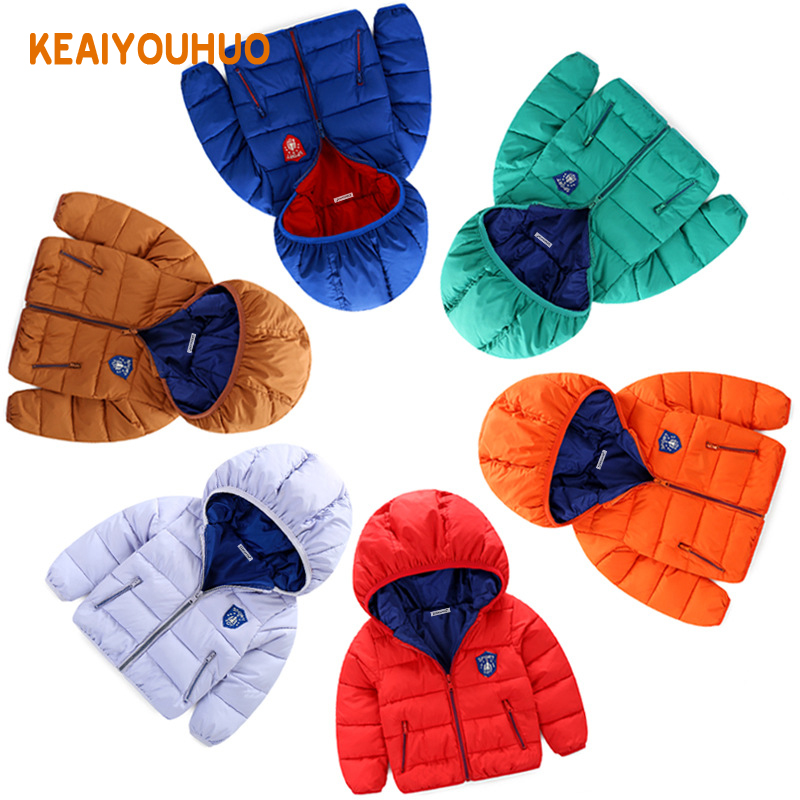 2017 New Children Down Parkas Kids clothes Winter Thick warm Boys girls jackets & coats Casual baby down outerwear(China (Mainland))