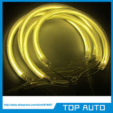 4pcs Yellow Amber Halo Rings with 2pcs CCFL Inverter For BMW E36,E38,E39,E46 CCFL Angel Eyes Headlight