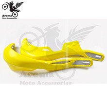 Motorcycle Handguards yellow motorbike parts Universal For kawasaki moto Hand guard Motocycle Accessories motocross ATV shell(China)