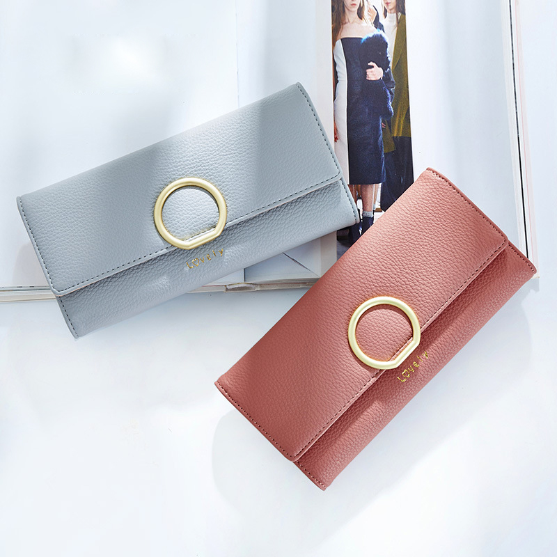 2017 CHOIR Women Leather Hasp Wallet Fashion Lady Portable Multifunction Long Solid Color Change Purse Hot Female Clutch Coin<br><br>Aliexpress