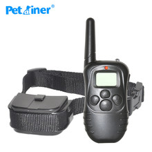 Petrainer 998D-1 300M LCD DISPLAY REMOTE CONTROL STATIC SHOCK ANTI BARK DOG PET TRAINING COLLAR(China)