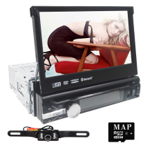 7' 1DIN DVD Player Cam-in/Bluetooth/Steering Wheel/FM/AM Radio Stereo Multimedia Station Navigation System with Free 8GB SD Card