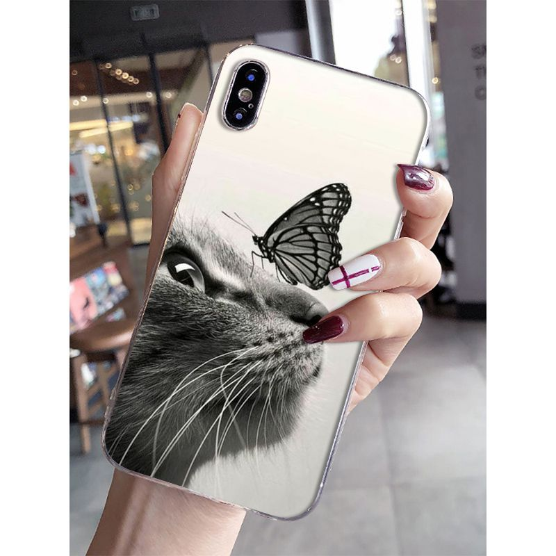 Butterfly Stand On The Cat Nose Mobile