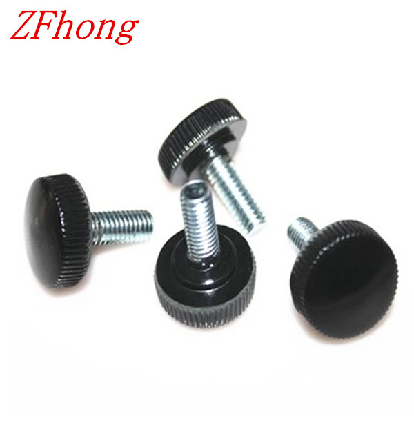 50pcs M4*6/8/10/12/16/18 black plastic knurled hand tighten thumb screw<br><br>Aliexpress