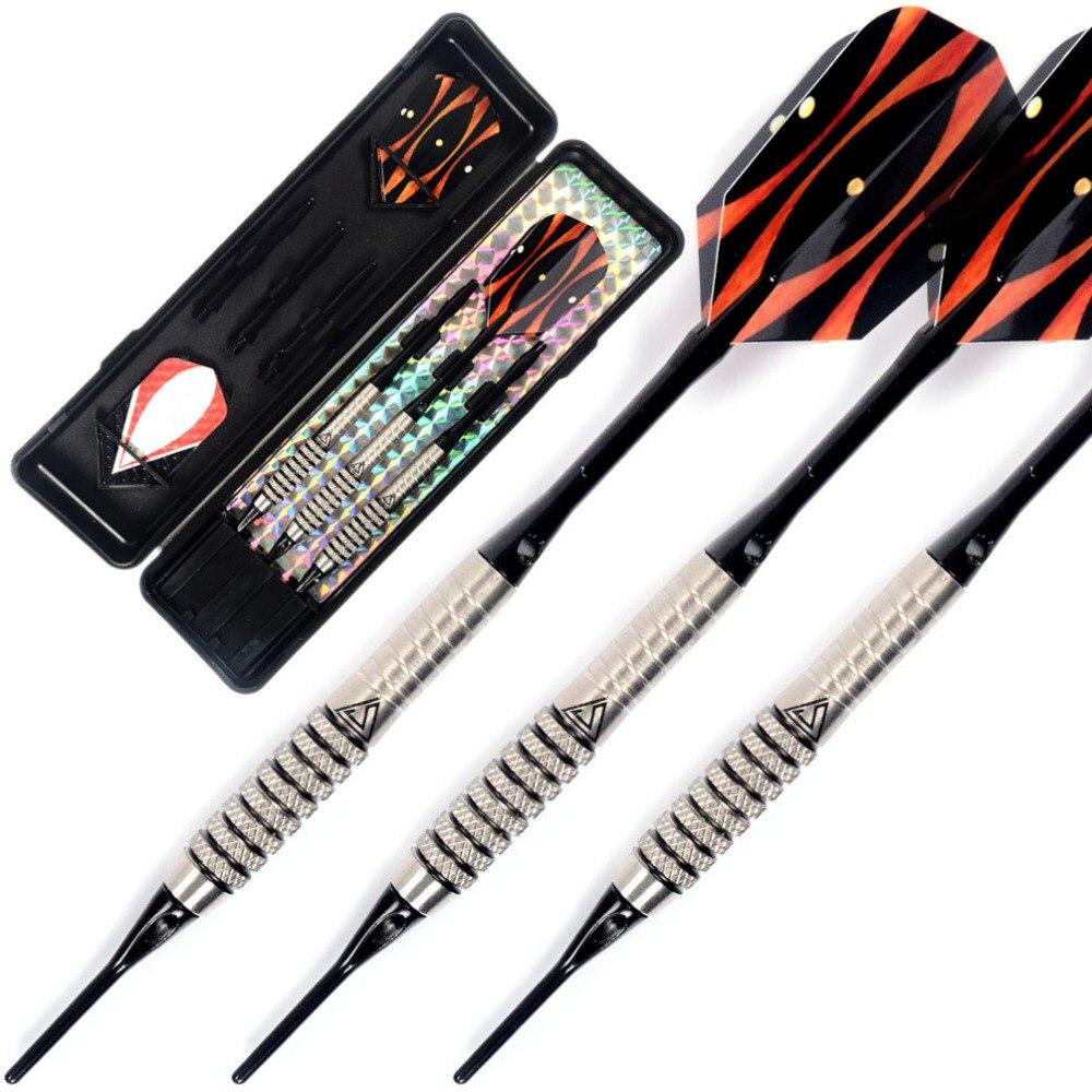 Cuesoul 18 Grams Soft Tip Tungsten Darts 85% Tungsten, Aluminum Dart Shafts and Slim Dart Flights<br>