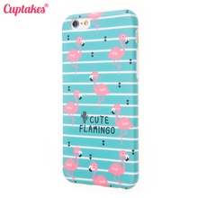 Cuptakes Case for iPhone 6 7 Plus Cover soft Silicone Cute Flamingo Luck Phone Cases for Apple iPhone 6S Coque Accessories i6