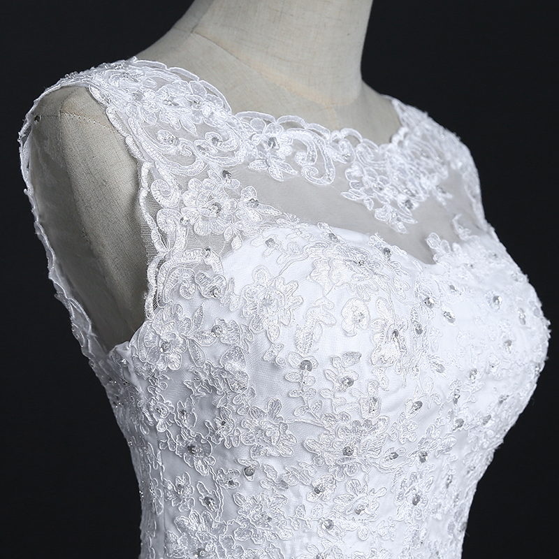 Fansmile New Arrival Lace Mermaid Wedding Dresses 2017 Plus Size Bridal Alibaba Wedding Dress Real Photo Free Shipping FSM-144M 8