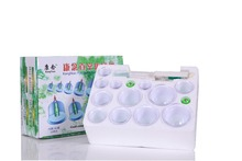 Tens 12-Cup vacuum cupping device Biomagnetic Chinese Cupping Tens Acupuncture body suction Portable Massage Therapy Device Set(China)