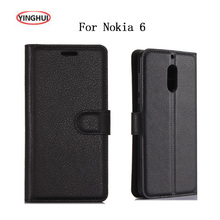 "YINGHUI For Nokia 6 5.5"" Luxury Smart Phone Cases Fundas Cover For Nokia 6 Case Flip Leather Protective Skin Bags Covers Coque(China)"