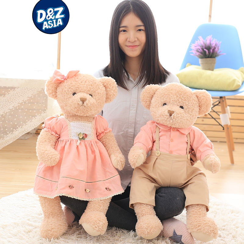 Korean couple wedding teddy bear plush toy doll wedding gift girl Valentines Day gift<br>