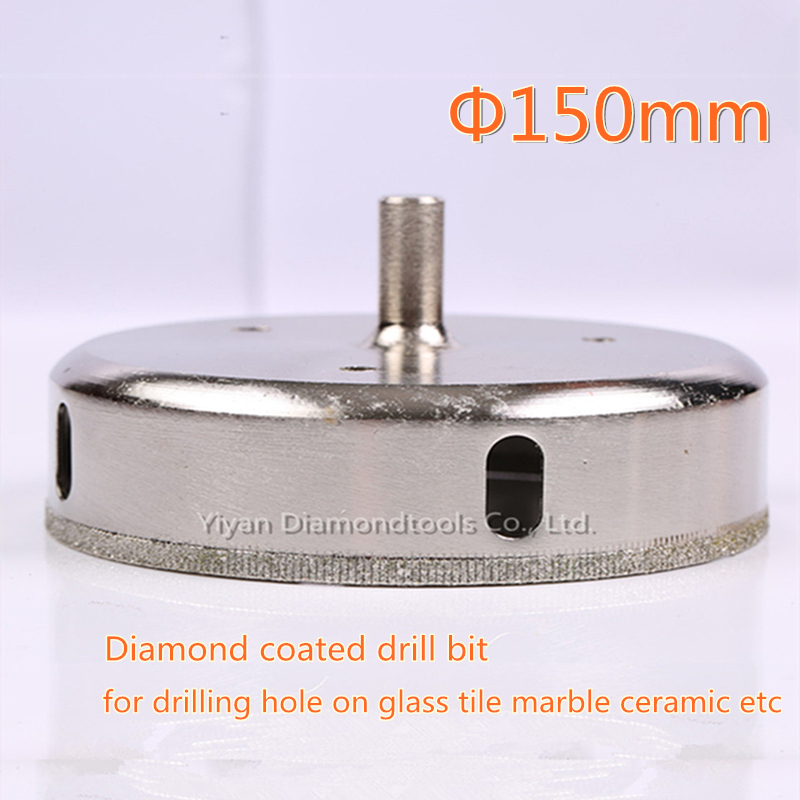 1pc 150mm outer dia diamond core drill bit glass hole opener cutter for glass ceramic tile porcelain marble hole drilling<br>