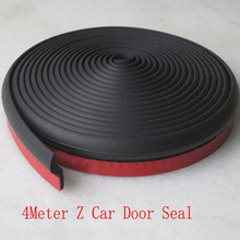 4 Meter Z Type Adhesive Car Rubber Seal Sound Insulation Car Door EPDM Sealing Strip Weatherstrip Car Styling Trim Seal Filler(China)