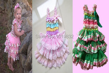 Adorable Girl Easter Dress Baby Girl Easter Day Outfits Floral Rainbow Chevron Petti Dresses Girl Casual Dress Children Clothes