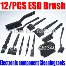 (12/pcs set) BGA rework Anti-static Brush PCB Cleaning Tool ESD brush Electronic component Cleaning tools good High-quality