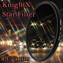 KnightX 52mm 58mm 67mm 77 Star Filter Point Line 58mm for Canon 18-55mm EOS Rebel T4i T3i T2i lens DSLR d3200 d5200 d5300 d3300