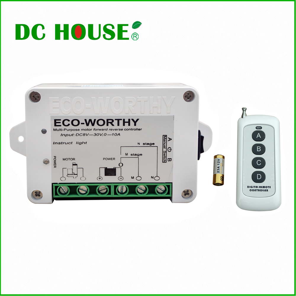 DC HOUSE CN USA EU Stock Wireless Remote Control Kit motor controller for Linear Actuators door open(China (Mainland))