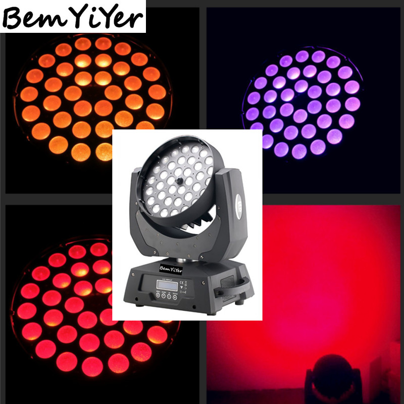 1piece 36x10W zoom led wash moving head light/RGBW-1/DMX/sound/master-slave/auto/dj shows/mobile stages/nightclubs/KTV(China (Mainland))
