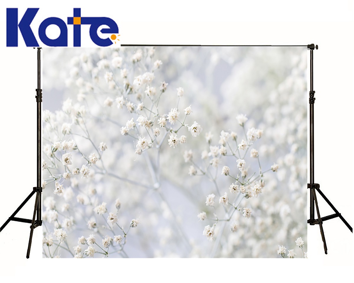 Children Baby Background Beautiful White Flower Photography Backdrops Newborn Focus Bud Digitally Printed<br>