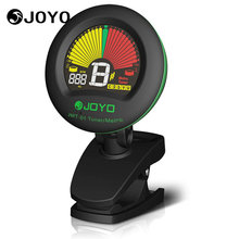 JOYO JMT-01 Clip On Digital Guitar Tuner Metronome 360 Degree Rotate Color Display for Chromatic Bass Violin Ukulele Accessories(China)