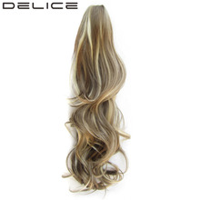 [DELICE] 24inch 160g/pc Women's High Temperature Fiber Synthetic Hair Long Layered Curly Claw Ponytail(China)