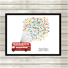 Free Ink Pads DIY Custom Thickening Canvas Wedding Fingerprint Signature Love Bus Guest Book Art Drawing No Frame Wall Ornaments