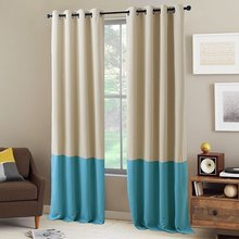 NICETOWN Color Block Window Curtains Window Covering Fashion 2 Tones Thermal Insulated Grommet Blackout Drapery Panel
