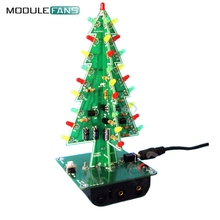 Christmas Trees LED DIY Kit Professional Red Green Flash LED Circuit(China)