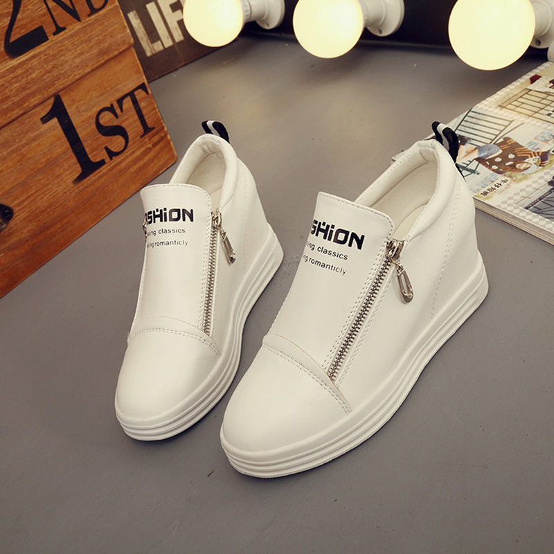 New Casual Comfortable Women Loafers Shoes Flats Solid Leather Female Fashion Simple Style Side Zipper Daily Life Shoe S-6100601<br><br>Aliexpress