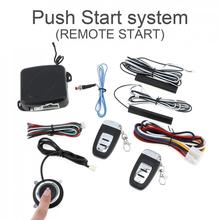 Universal 12V Smart Auto Car Alarm Engine Starline Push Button Start Stop RFID Lock Ignition Switch Keyless Entry System