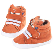 2017 Fashion Baby Girl Boys First Walkers Fox Shoes Sneakers Anti-slip Boots Soft Sole Toddler Infant Pre-walkers Matte Cotton