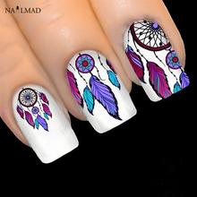 1 sheet NailMAD Dreamcatcher Stickers Feather Nail Art 3D Sticker Dream Cather Nail Stickers(China)