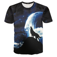 Animal 3D T Shirt Men Wolf Printed Short Sleeve Hip Hop Galaxy Tee Shirt Homme Casual Slim Fit Mens Fashion T-shirt Tops Tshirt(China)