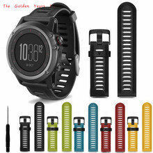 2017 Wrist Watch Band Strap High Quality Fashion Soft Silicone Replacement Watch Band With Tools For Garmin Fenix 3 1124d30