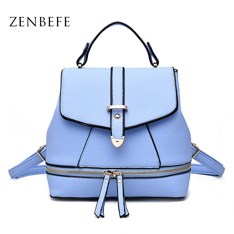 ZENBEFE Small WomenS Backpacks Durable Ladies Shoulder Bags Fashion Women Bag  Multifunction Women Daily Bag Backpack For Lady<br><br>Aliexpress