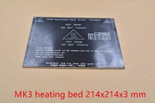 3d printer heat bed MK3 heating bed aluminum plate black 214mmx214mmx3mm 1pcs