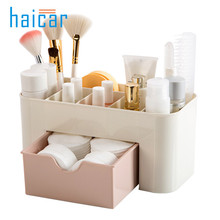 Multifunction Make Up Cosmetics Storage Box Container Bag Dresser Desktop Office Cosmetic Makeup Organizer rangement maquillage