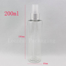 200ml X 30  aluminum fine spray perfume bottle  for personal care  ,empty clear plastic refillable perfumes bottle  wholesale