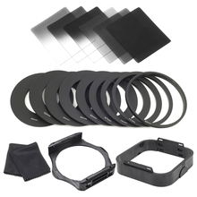 6pcs ND2 ND4 ND8 G.ND2 G.ND4 G.ND8 Filter Set + 9pcs Adapter Ring + Lens Hood + Filter Holder for Cokin P Series(China)