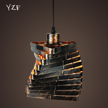 YZF E27 Retro Iron Creative loft counter Lamp Western personalized aisle diamond chandelier for Restaurant Coffee bar Bedroom