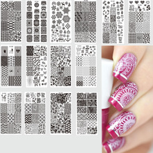 12x6cm New 2017 32 Designs Fashion/Beauty Pattern Stamping Plates Nail Art DIY Polish Printing Nail Templates Stamp TRXY-Z01-32