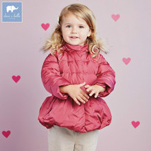 DB2744 dave bella winter baby girls white duck down jacket warm padded coat(China)