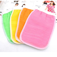 2015 Bath Exfoliating Gloves Shower Wash Skin Spa Massage Loofah Scrubber Kids Items Shower Tools For Kids(China)