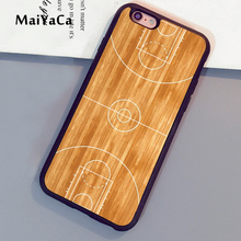 MaiYaCa Basketball Court Layout Printed Soft Rubber Mobile Phone Cases For iPhone 6 6S Plus 7 7 Plus 5 5S 5C SE 4 4S Cover