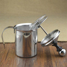 New 400ml Stainless Steel Milk Frother Double Mesh Milk Creamer Milk Foam Hot Sale Perfect(China)