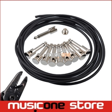 DIY Guitar Pedal Patch Cable Solder-free Pedal Board Copper Cable Kit 10ft 10 Strait Audio 6.35 Plugs For Effect Pedal