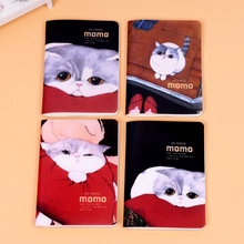 Kawaii Cartoon A6 PP Cover Notebook Soft Copybook Blank Inner Paper Portable Small Scrapbook Stationery Supply Student
